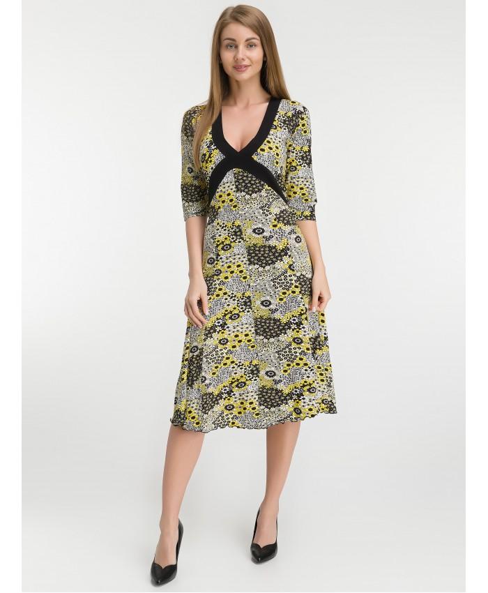 Платье   8010 lemon