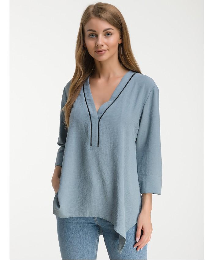 Блуза  888 grey-blue